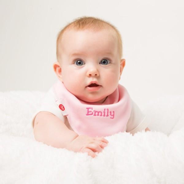 Ziggle personalised 4 pack pink baby bandana bibs