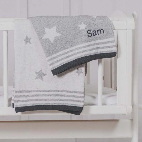 Personalised Jellycat bashful bunny and ziggle star baby blanket gift set