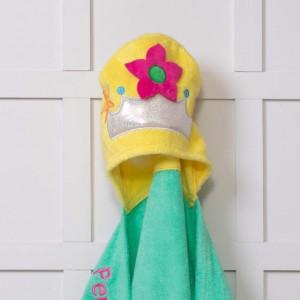 Zoocchini personalised marietta the mermaid toddler hooded towel