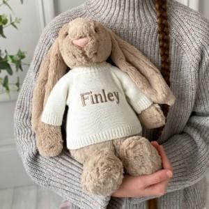 Personalised Jellycat large bashful bunny soft toy