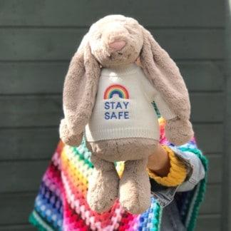 Stay Safe Rainbow Bunnies
