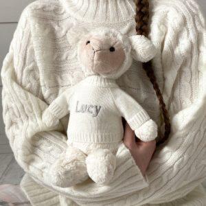 Personalised Jellycat bashful lamb soft toy