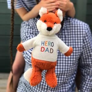That's mine Father's Day 'Hero Dad' fox medium soft toy