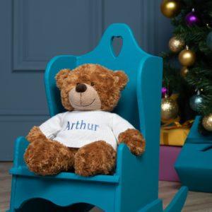 Personalised Aurora brown bonnie bear large teddy soft toy