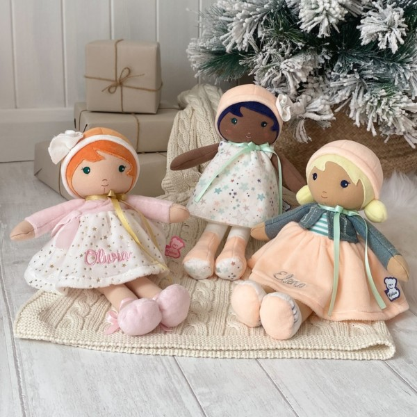 Personalised Kaloo Valentine K my first doll soft toy