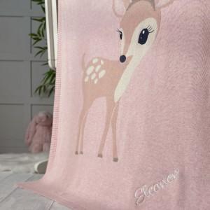 Bizzi Growin personalised felicity fawn baby pram blanket