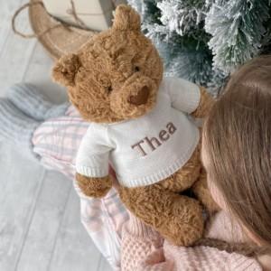 Personalised Jellycat bartholemew bear large teddy soft toy