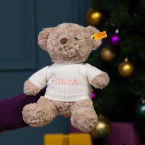 Personalised Steiff honey teddy bear medium soft toy