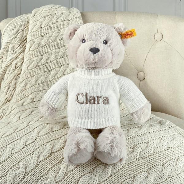 Personalised Steiff bearzy beige teddy bear soft toy