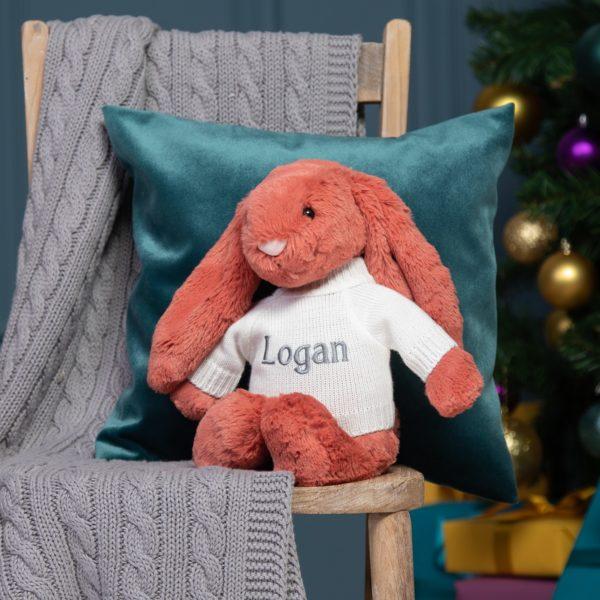 Personalised Jellycat cinnamon bashful bunny soft toy