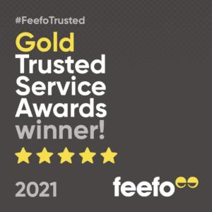 Feefo Gold Service Award Winners 2021