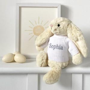 Personalised Jellycat buttermilk bashful bunny soft toy
