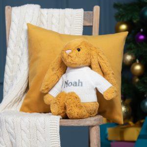 Personalised Jellycat saffron bashful bunny soft toy
