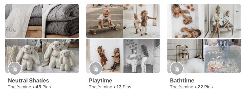 That's mine Pinterest Boards