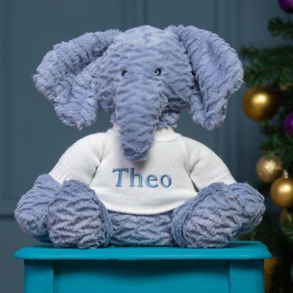 Personalised Jellycat Fuddlewuddle Elephant soft toy